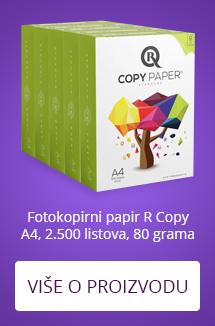 Fotokopirni papir R Copy A4, 2.500 listova, 80 grama