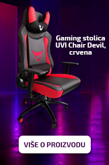 Gaming stol UVI Chair Devil, vražja rdeča