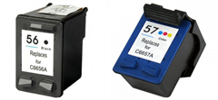 Komplet tinta za HP SA342AE (nr.56 BK + nr.57 CMY), dvostruko pakiranje, zamjenski