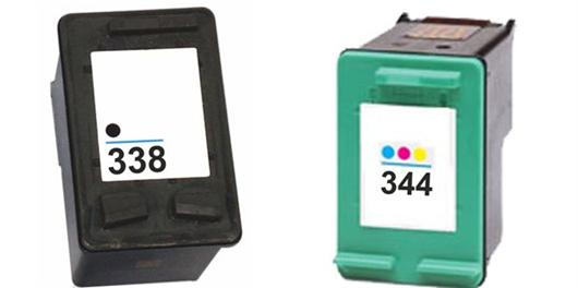 Komplet tinta za HP C8765EE nr.338 (crna) + C9363EE nr.344 (boja), zamjenski