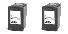 Komplet tinta za HP C9362EE nr.336 (crna), dvojno pakiranje, zamjenski