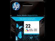 Tinta HP C9352AE nr.22 (boja), original