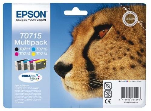 Komplet tinta Epson T0715 (BK/C/M/Y), original
