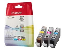 Komplet tinta Canon CLI-521 (plava, žuta, ljubičasta), original