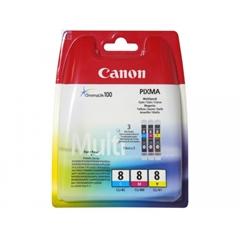 Komplet tinta Canon CLI-8 (plava, ljubičasta, žuta), original