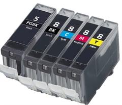 Komplet tinta za Canon CLI-8 BK/C/M/Y + PGI-5BK, zamjenski