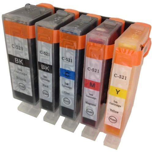 Komplet tinta za Canon CLI-521 BK/C/M/Y + PGI-520BK, zamjenski