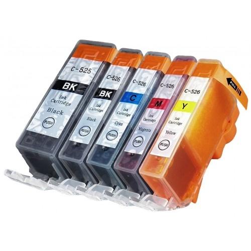 Komplet tinta za Canon CLI-526 BK/C/M/Y + PGI-525BK, zamjenski