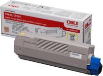 Toner OKI 43865721 (C5850) (žuta), original