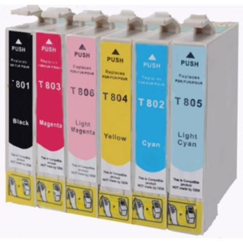 Komplet tinta za Epson T0807 (BK/C/M/Y/LM/LC), zamjenski