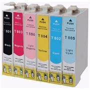 Komplet tinta za Epson T0487 (BK/C/M/Y/LM/LC), zamjenski