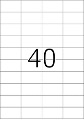 Naljepnice 651, 52,5 X 29,7 mm
