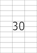 Naljepnice 489, 70 X 29,7 mm