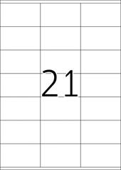 Naljepnice 481, 70 X 41 mm