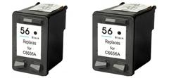 Komplet tinta za HP C6656AE nr.56 (crna), dvostruko pakiranje, zamjenski