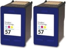Komplet tinta za HP C6657AE nr.57 (boja), dvostruko pakiranje, zamjenski