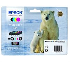 Komplet tinta Epson 26 (C13T26164010) (BK/C/M/Y), original