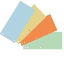 Pregrada kartonska 10 x 22,5 cm, komplet 5 boja