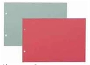 Pregrada kartonska 16 x 22,5 cm (A5), komplet 5 boja