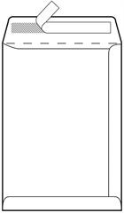 Kuverta vrećica B4, 250 x 353 mm, bijela, 100 g, 500 komada