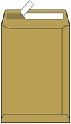 Kuverta vrećica B4, 250 x 353 mm, smeđa, 500 komada