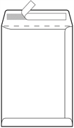 Kuverta vrećica B5, 176 x 250 mm, bijela, 500 komada