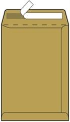 Kuverta vrećica B5, 176 x 250 mm, smeđa, 500 komada