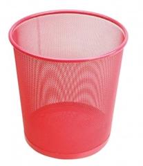 Koš za smeće 27 x 28 cm, metalni, ružičasti
