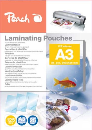 Vrećice za plastificiranje (A3), 125 mic, 25 komada (PPR525-01)