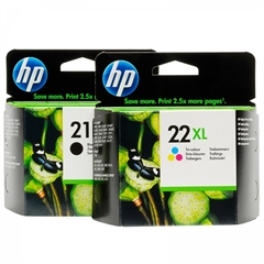 Komplet tinta HP nr.21XL BK + nr.22XL CMY, original