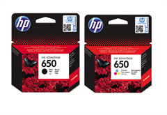 Komplet tinta HP nr.650 (BK + CMY), original