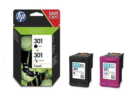 Komplet tinta HP N9J72AE (nr.301 BK + nr.301 CMY), dvostruko pakiranje, original
