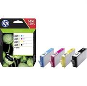 Komplet tinta HP N9J74AE nr.364XL (BK/C/M/Y), original