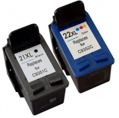 Komplet tinta za HP 2 x C9351CE nr.21XL (crna) + C9352AE nr.22 XL (boja), zamjenski