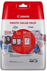 Komplet tinta Canon PG-545XL + CL-546XL, original + foto papir (8286B006AA)
