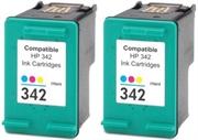 Komplet tinta za HP C9361EE nr.342 (boja), dvojno pakiranje, zamjenski