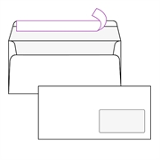 Kuverta American, 230 x 110 mm, s desnim prozorom, 100 komada