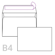 Kuverta B4, 353 x 250 mm, bijela, 250 komada