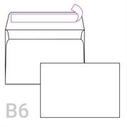 Kuverta B6, 125 x 176 mm, bijela, 500 komada