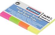 Samoljepljivi indeks listići u bloku Donau (20 x 50 mm), neon, 200 listića