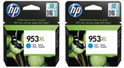Tinta HP F6U16AE nr.953XL (plava), dvostruko pakiranje, original
