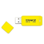 USB stick Integral Neon, žuti, 32 GB