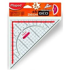 Prozirni trokut  Maped s držačem, 26 cm
