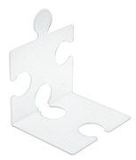 Stalak za knjige/CD-e Puzzle, prozirni, 2 komada