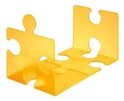Stalak za knjige/CD-e Puzzle, prozirna narančasta boja, 2 komada