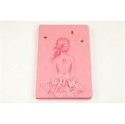 Blok bilježnica A5 Baletna plesačica, 96 listova, ružičasta