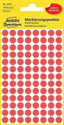 Naljepnice (točke za označavanje) Zweckform 3010, promjer 8 mm, crvene