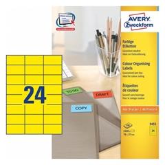 Naljepnice Zweckform 3451 70 x 37 mm, žute boje