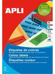 Naljepnice u boji Apli, 210 x 297 mm, fluorescentno žute