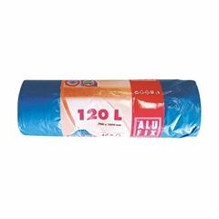 Plastične vrećice za smeće, s trakom, plave, 120 l, 10 kom.